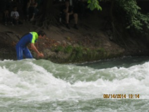 Surfing a River