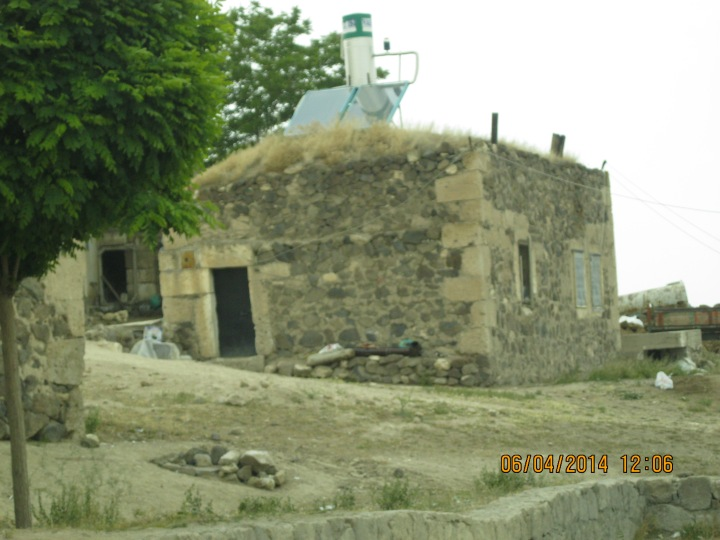 Even a stone house has solar water heating