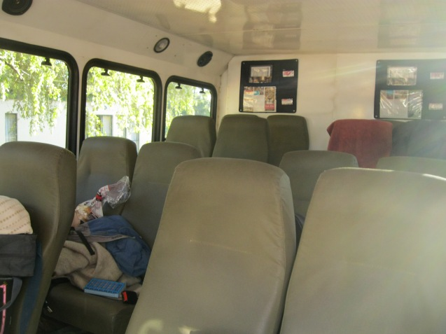 Inside the truck for camping, and driving through Africa