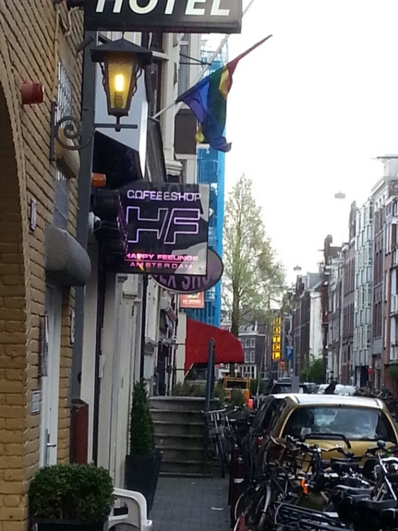 A coffeeshop where it is legal to buy and smoke weed and hash, and a sex toy shop next door