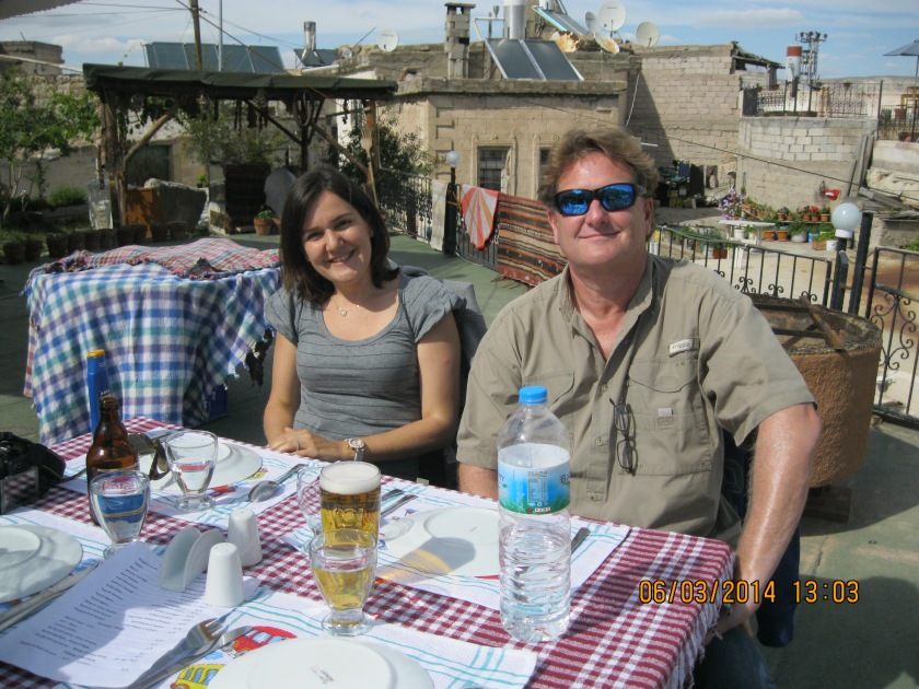Lunch in a small village. It was hard to find because of construction, so the owner met us in town and had us follow him back on his motorbike
