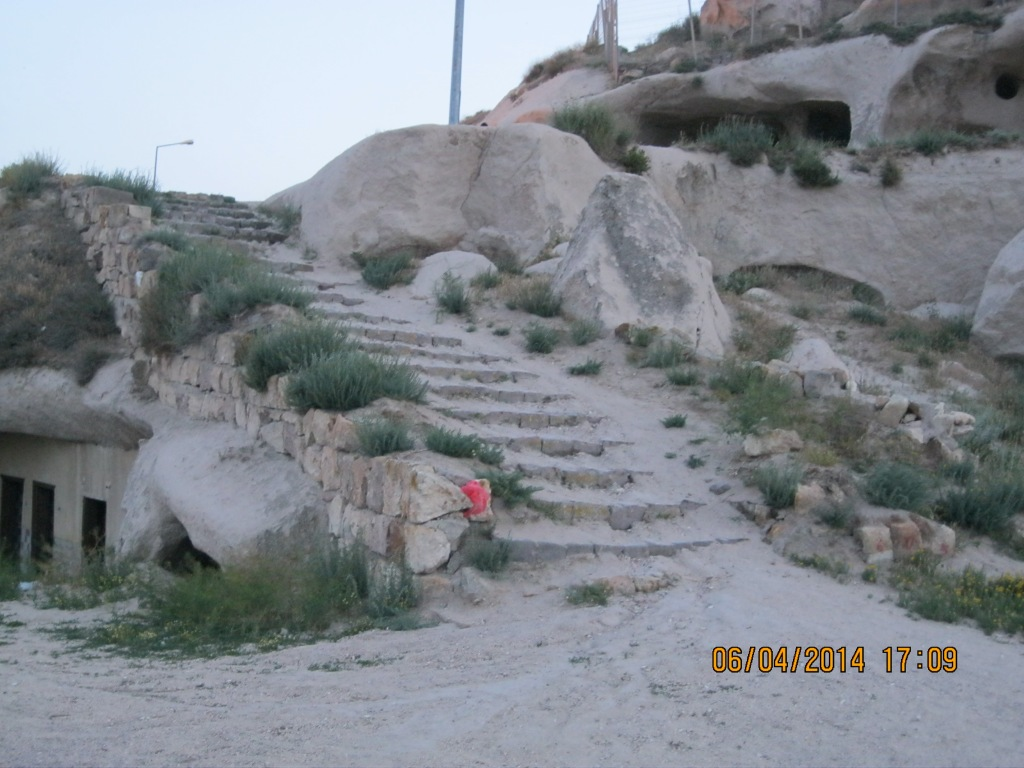 This is an ancient area that I bet archeologists would love to explore. I watched a guy on an atv ride it down these steps, and knew historians would be horrified. Many of these kinds of places are being slowly destroyed, just by living.