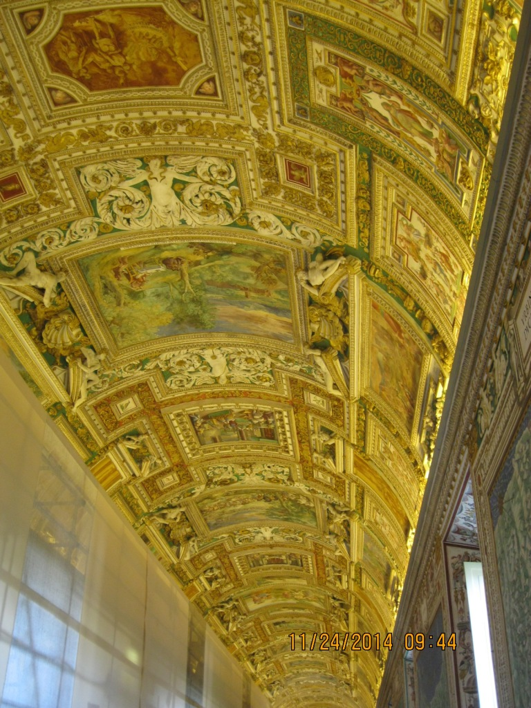 Even the ceilings are extravagant at the Vatican