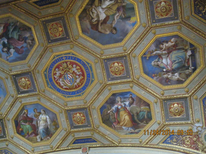 At the Vatican museums - ceiling