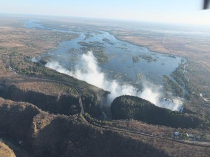 9. Vic Falls from air