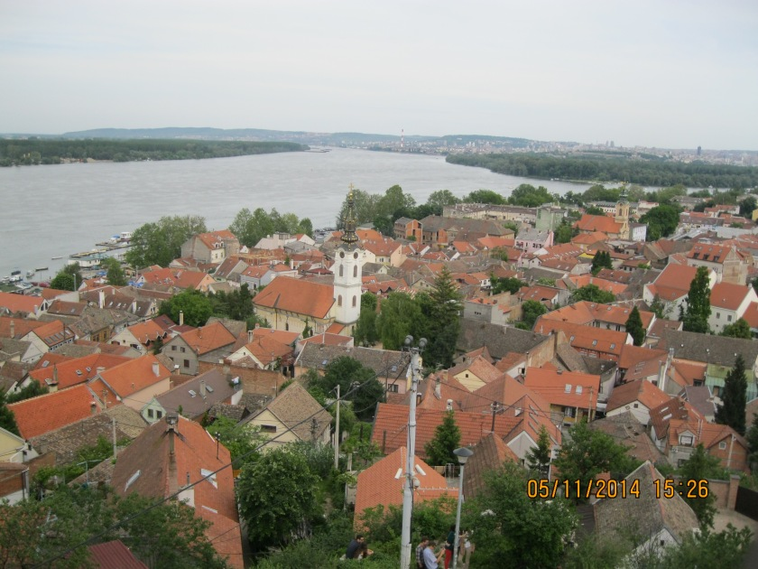 Overlooking Belgrade and the Danube River