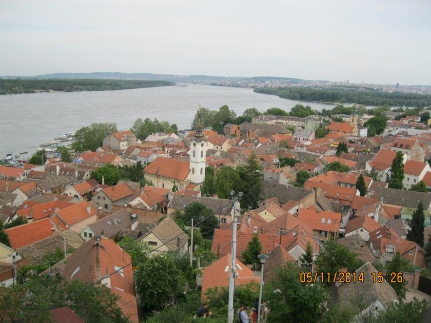 Overlooking Belgrade and the Danube River