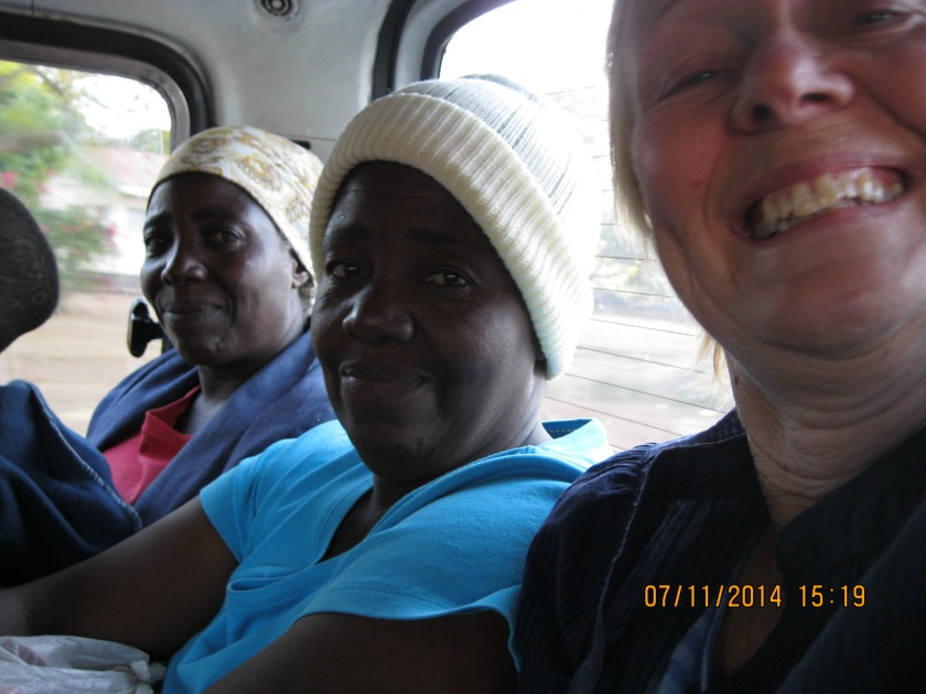 In a public taxi- there were 11 of us squeezed in and cost us 50 cents
