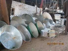 The local market. These are tubs used for bathing.
